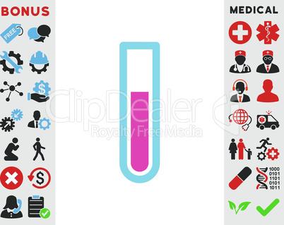 BiColor Pink-Blue--test tube.eps
