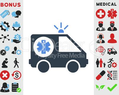 BiColor Smooth Blue--ambulance car.eps