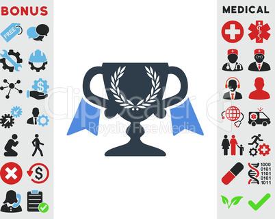 BiColor Smooth Blue--award cup.eps