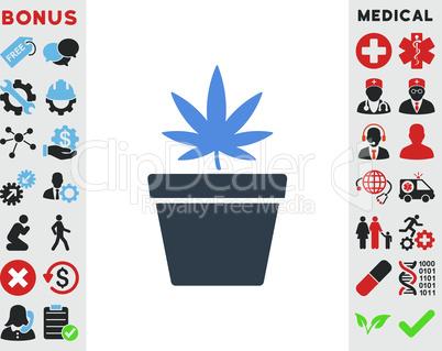 BiColor Smooth Blue--cannabis pot.eps