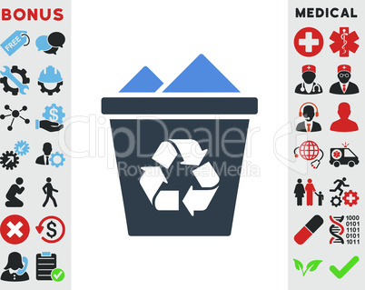 BiColor Smooth Blue--full recycle bin.eps