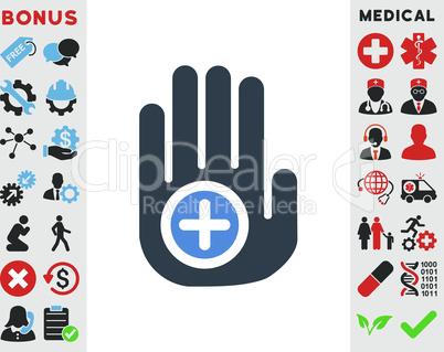 BiColor Smooth Blue--hand medical marker.eps