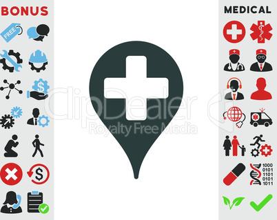 Soft Blue--medical map marker.eps