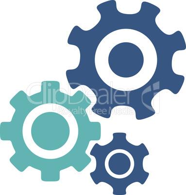 BiColor Cyan-Blue--mechanism.eps