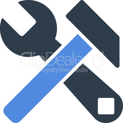 BiColor Smooth Blue--hammer and wrench.eps