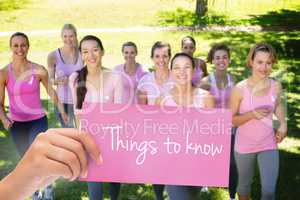 Things to know against smiling women in pink for breast cancer a