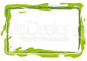 Rahmen gemalt grün