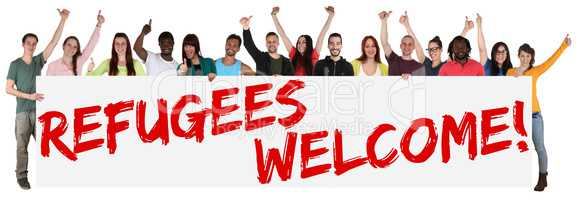 Refugees welcome Flüchtlinge willkommen Willkommenskultur Mensc