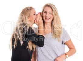 2 blonde Freundinnen tuschen