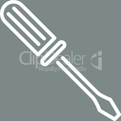 bg-Gray White--contour screwdriver.eps