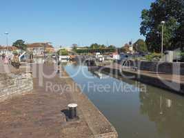 Lock gate in Stratford upon Avon