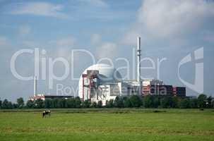 Kernkraftwerk Brokdorf, Schleswig-Holstein, Deutschland