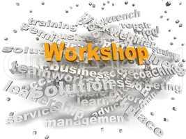 3d image Workshop word cloud concept
