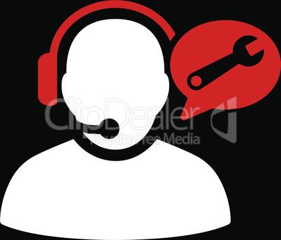 bg-Black Bicolor Red-White--operator service message.eps