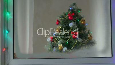 Window with Christmas Tree