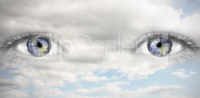 Composite image of blue eye
