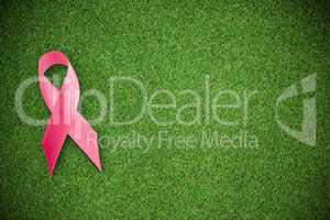 Composite image of breast cancer ribbon