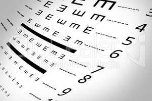 An eye sight test chart