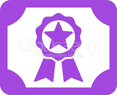 Violet--award diploma.eps