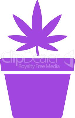 Violet--cannabis pot.eps
