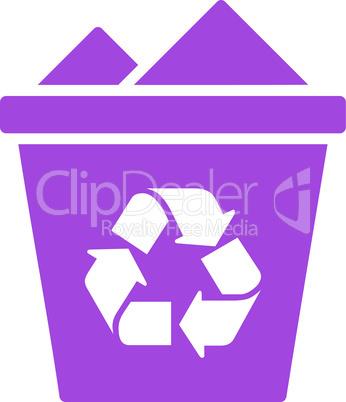 Violet--full recycle bin.eps