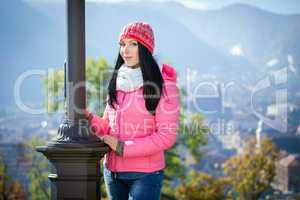 Young woman posing outdoor in autumn.