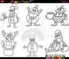 saint patrick set coloring page