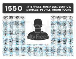 User Icon and More Interface, Business, Tools, People, Medical, Awards Flat Glyph Icons