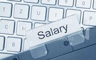 Salary - folder on computer keyboard