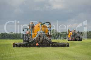 Agriculture, injecting of liquid manure