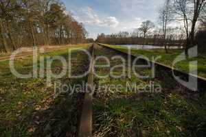"Old railway line ""Borkense Course"" in the Netherlands"