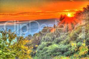 Sonnenaufgang über Cochem an der Mosel