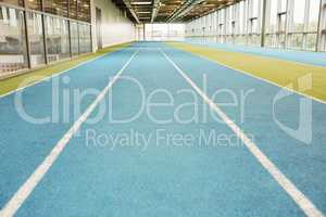Indoor running track