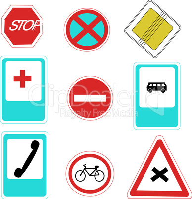 Ukrainian road signs(illustration)