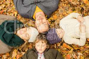Young family doing a head circles