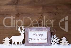 Shabby Chic Greeting Card With Merry Christmas