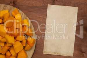 Pumpkin sliced