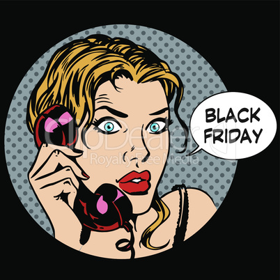 Black Friday woman phone communication