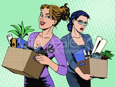 Competition work dismissal businesswoman vacancy