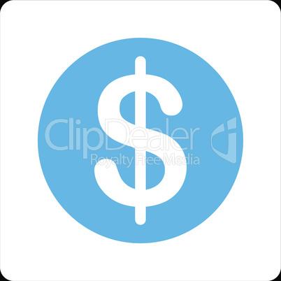 bg-Black Bicolor Blue-White--dollar coin.eps