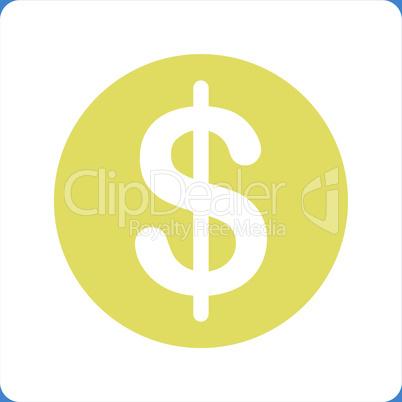 bg-Blue Bicolor Yellow-White--dollar coin.eps