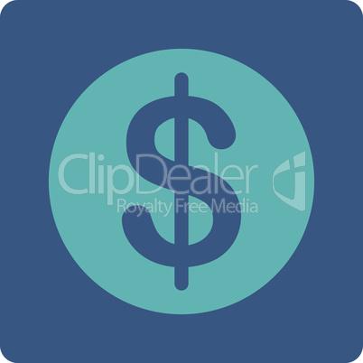 BiColor Cyan-Blue--dollar coin.eps