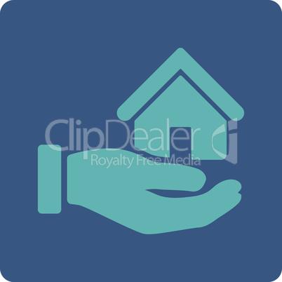 BiColor Cyan-Blue--real estate.eps