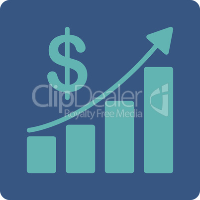 BiColor Cyan-Blue--sales growth.eps