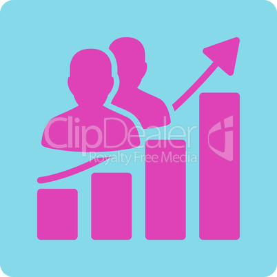 BiColor Pink-Blue--Audience growth.eps