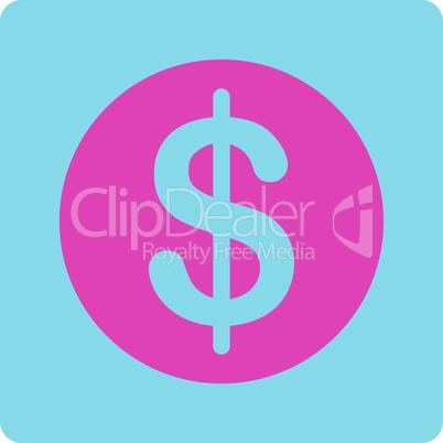 BiColor Pink-Blue--dollar coin.eps