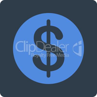 BiColor Smooth Blue--dollar coin.eps