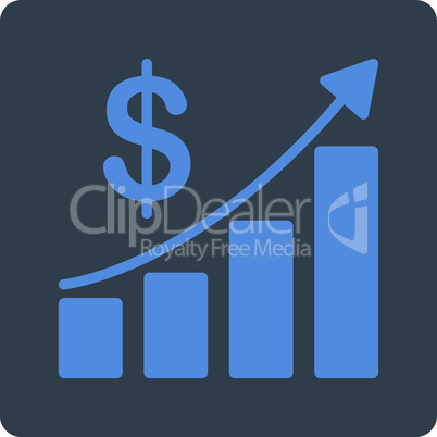 BiColor Smooth Blue--sales growth.eps