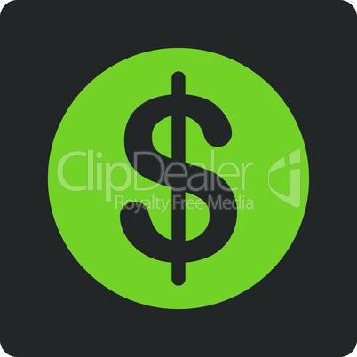 Bicolor Eco_Green-Gray--dollar coin.eps