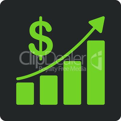 Bicolor Eco_Green-Gray--sales growth.eps